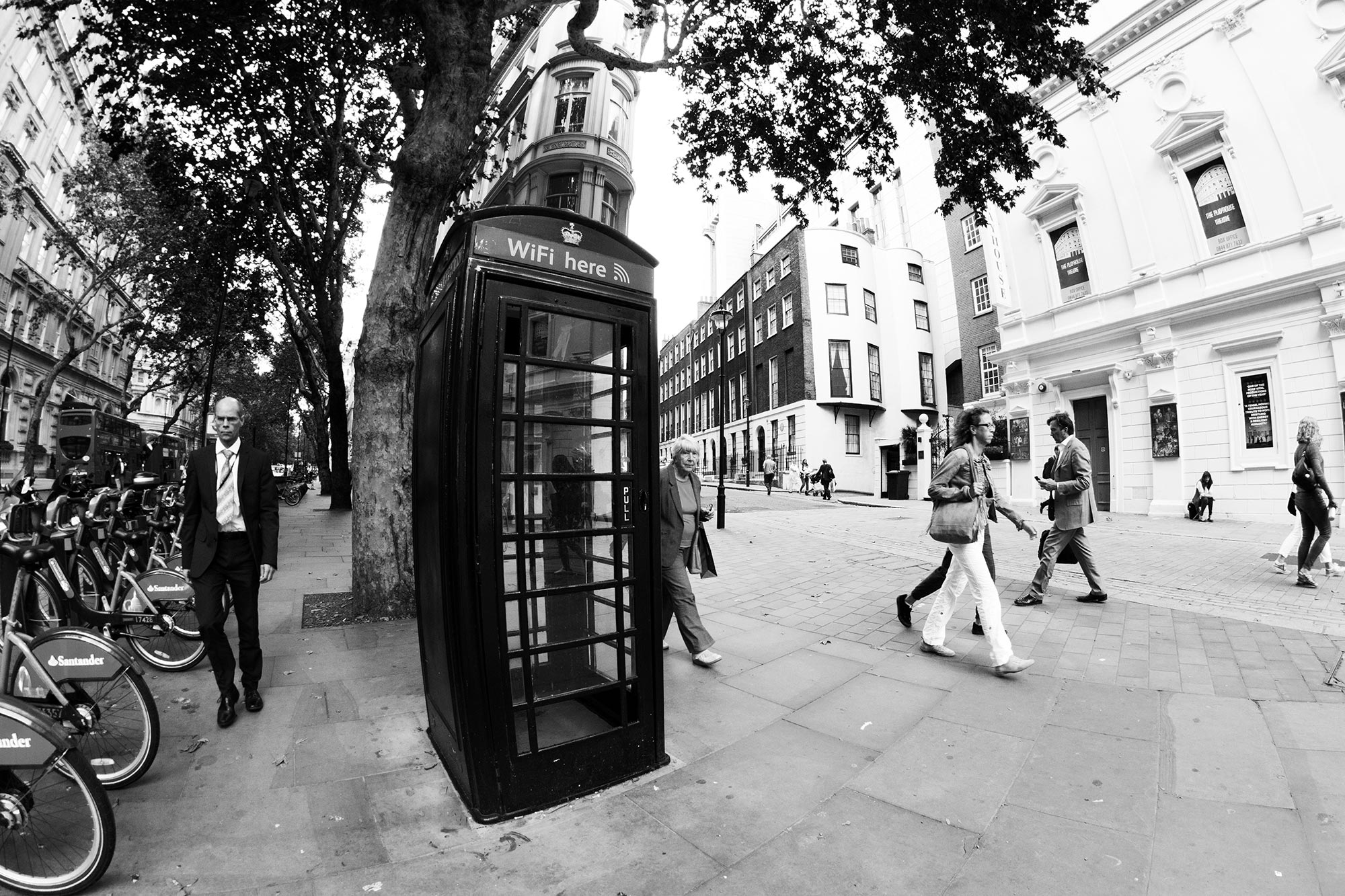 London phone booth with WiFi