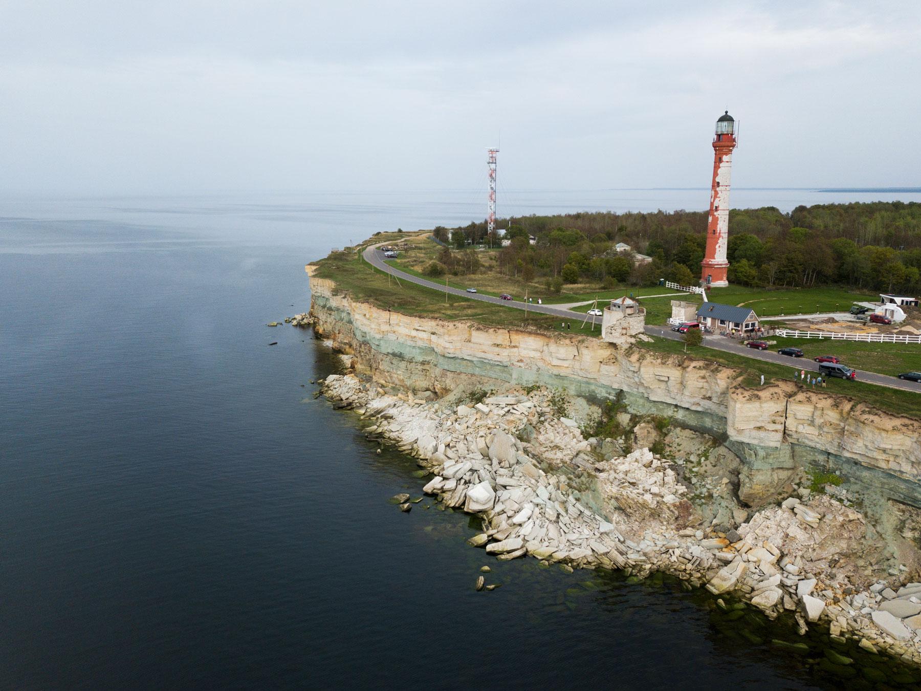 Pakri cliffs and lighthouse in Estonia