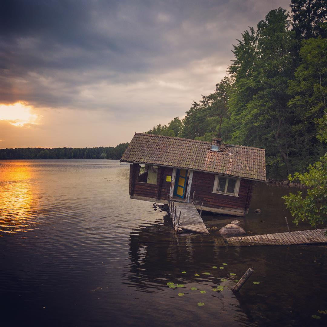 Broken Sauna in Finland
