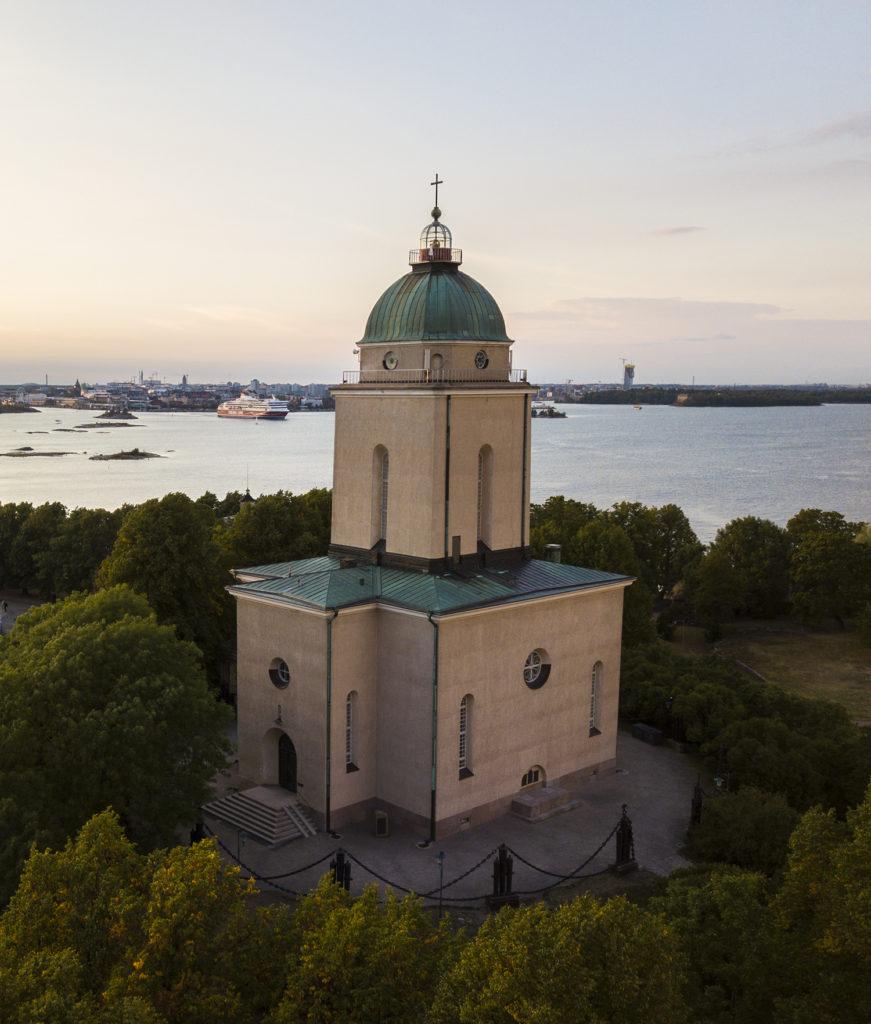 The Suomenlinna Church in the famous Sea Fortress in Helsinki, Finland