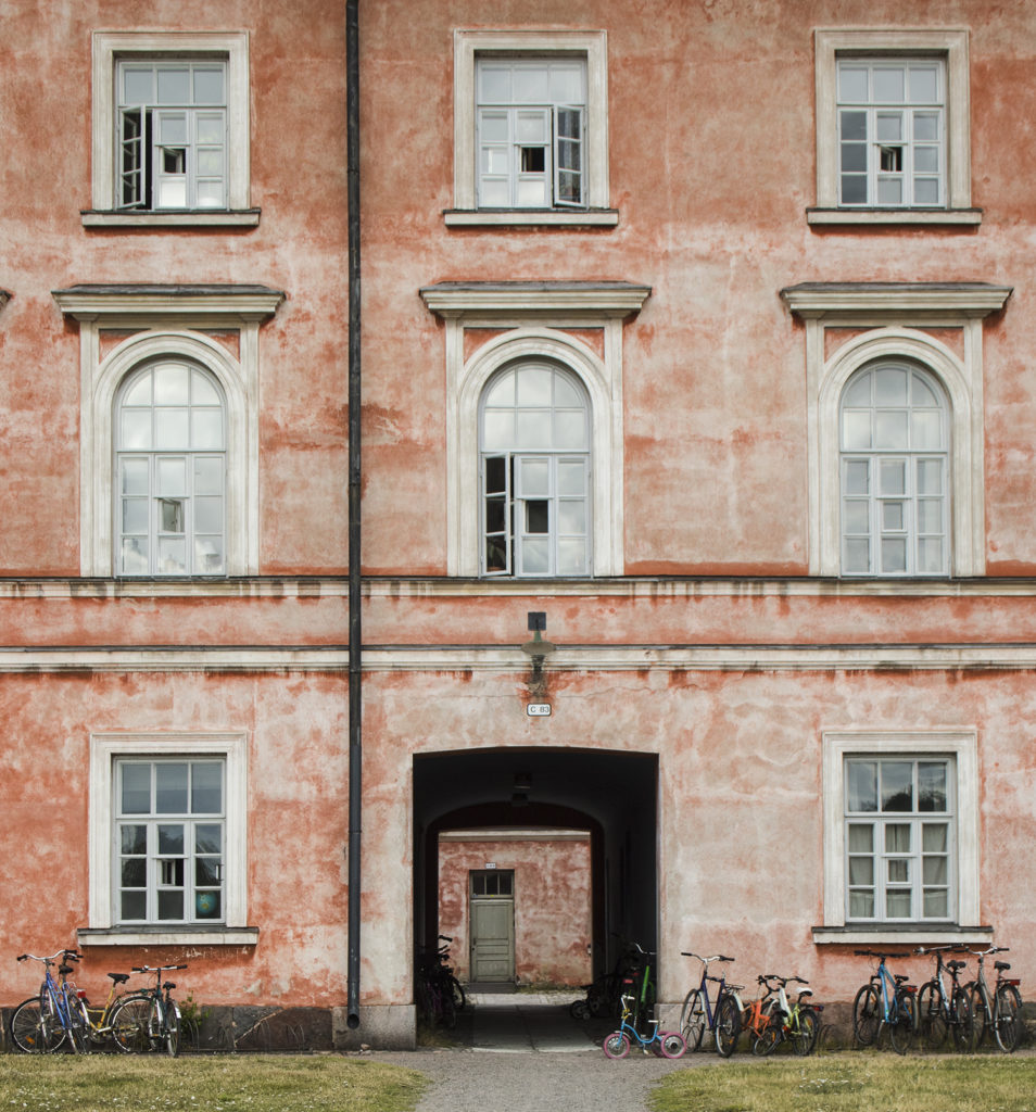 A facade of a residential building in Suomenlinna Sea Fortress